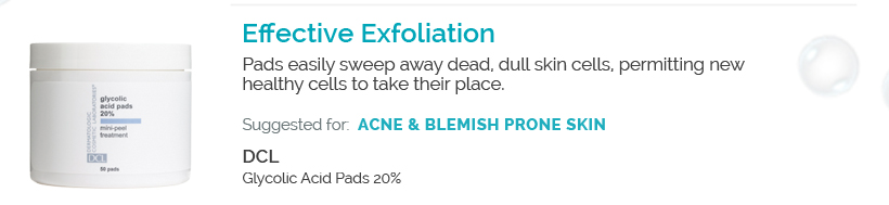 Effective Exfoliation - DCL Glycolic Pads 20%