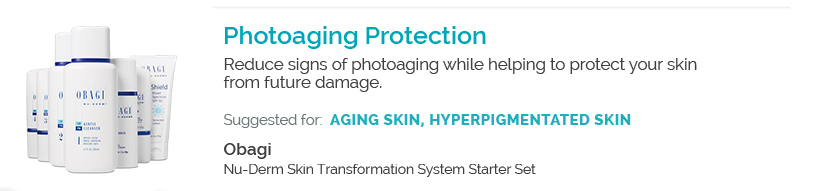 Photoaging Protection - Obagi Nu-Derm Skin Transformation System Starter Set