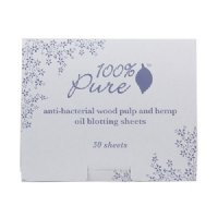 100% Pure Organic Anti Bacterial Wood Pulp Oil Blotting Paper, 50 Sheets