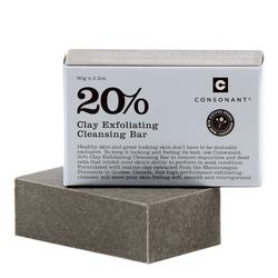 Consonant 20% Clay Exfoliating Cleansing Bar , 90g/3.2 oz
