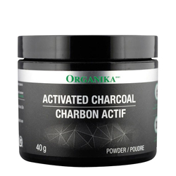 Organika Activated Charcoal Powder, 40g/1.4 oz