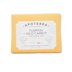 APOTERRA Pumpkin + Wild Carrot Complexion Soap, 128g/4.5 oz