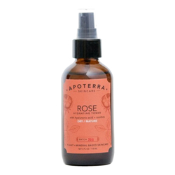 APOTERRA Rose Hydrating Toner with Hyaluronic Acid + Rooibos, 118ml/4 fl oz