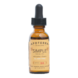 APOTERRA Simple Facial Oil with Jojoba + Flowers, 29.57ml/1 fl oz