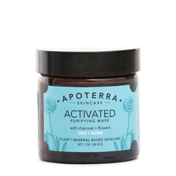 APOTERRA Activated Purifying Mask with Charcoal + Flowers, 28g/1 oz