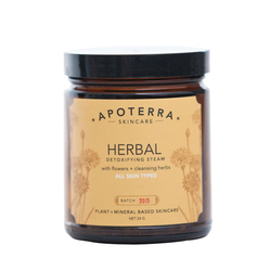 APOTERRA Herbal Detoxifying Steam with Flowers + Cleansing Herbs, 24g/0.85 oz