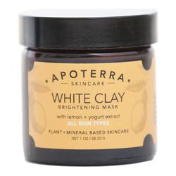 APOTERRA White Clay Brightening Mask with Lemon + Yogurt extract, 28g/1 oz