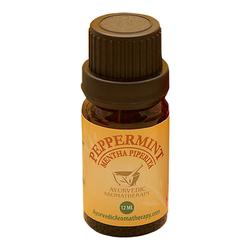 Ayurvedic Aromatherapy Peppermint Essential Oil, 12ml/0.4 fl oz