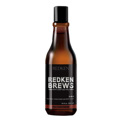 Redken Brews 3 in 1 Shampoo, Conditioner and Body Wash, 300ml/10 fl oz