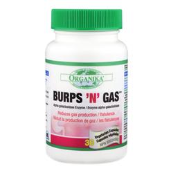 Organika Burps & Gas, 30 capsules