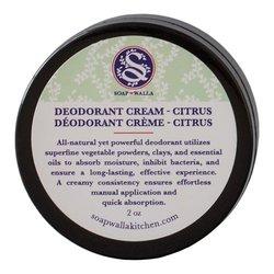 Soapwalla Citrus Deodorant Cream, 57g/2 oz