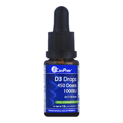 CanPrev D3 Drops 1000IU- MCT base, 15ml/0.5 fl oz