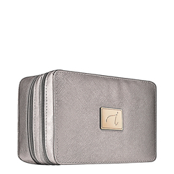 jane iredale Deluxe Mirrored Cosmetic Bag - Graphite, 1 piece