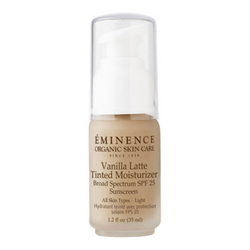 Eminence Organics Vanilla Latte Tinted Moisturizer SPF 25 (Light), 30ml/1 fl oz