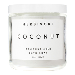 Herbivore Botanicals Coconut Bath Soak, 226g/8 oz