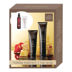 John Masters Organics Honey & Hibiscus Holiday Collection, 4 pieces