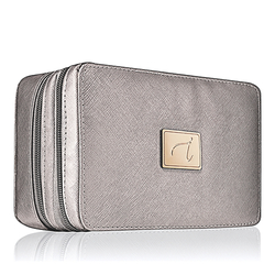 jane iredale Deluxe Mirrored Cosmetic Bag - Graphite, 1 pieces