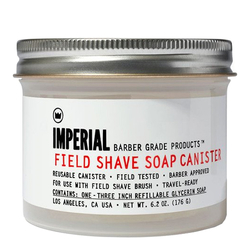 Imperial Barber Products Field Shave Soap Canister, 176g/6.2 oz