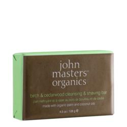 John Masters Organics Birch & Cedarwood Cleansing & Shaving Bar, 128g/4.5 oz