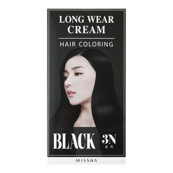 MISSHA MISSHA Long-Wear Cream Hair Coloring - Black, 1 sets