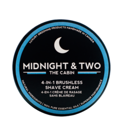 Midnight and Two 4-In-1 Brushless Shaving Cream - Natural (Unscented), 120ml/4.1 fl oz