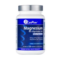 CanPrev Magnesium Bis-Glycinate 140 Extra Gentle, 120 capsules