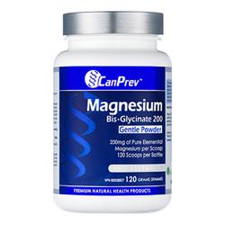 CanPrev Magnesium Bis-Glycinate 200 Gentle Powder, 120g/4.2 oz