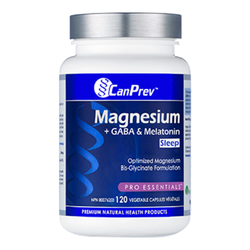 CanPrev Magnesium + GABA and Melatonin for Sleep, 120 capsules