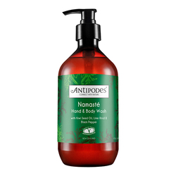 Antipodes  Namaste Hand & Body Wash - Lime and Black Pepper, 500ml/16.9 fl oz