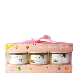 100% Pure Organic Boxed Fruit Body Scrub Gift Set, 3 x 170ml/6 fl oz