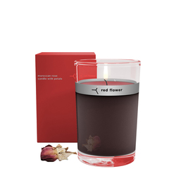 Red Flower Petal Topped Candle - French Lavender, 170g/6 oz