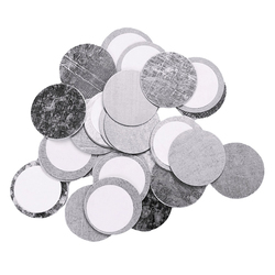 Z Palette Round Metal Stickers, 30 pieces