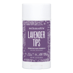 Schmidts Natural Deodorant Sensitive Skin Deodorant Stick - Lavender Tips, 92g/3.25 oz