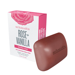 Schmidts Natural Bar Soap - Rose + Vanilla, 142g/5 oz