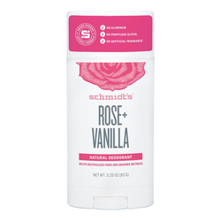Schmidts Natural Deodorant Stick - Rose + Vanilla, 92g/3.25 oz