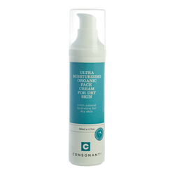 Consonant Ultra Moisturizing Organic Face Cream for Dry Skin, 50ml/1.7 fl oz