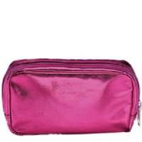 Pink Metalic Cosmetic Bag, 1 pieces