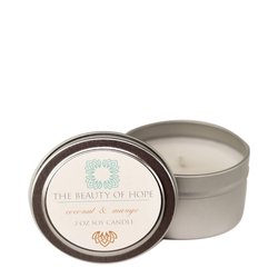 Beauty Of Hope Coconut & Mango Soy Candle, 237ml/3 fl oz