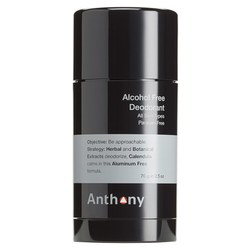 Anthony Logistics Alcohol Free Deodorant, 70g/2.5 oz
