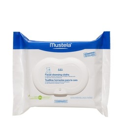 Mustela Facial Cleansing Cloths Pack, 25 wipes