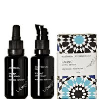 Kahina Giving Beauty Glow Box, Argan Oil, Fez Body Serum, Rosemary Lavender Argan Soap