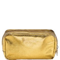 Show product details for Free Gift with Purchase of $120: Gold Travel Cosmetic Bag
