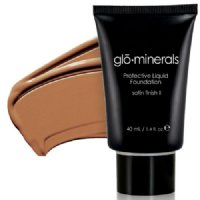 gloMinerals gloProtective Liquid Foundation Satin II - Honey, 40ml/1.4 fl oz