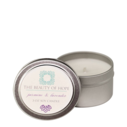 Beauty Of Hope Jasmine & Lavender Soy Candle, 237ml/3 fl oz