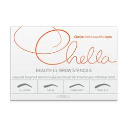 Chella Beautiful Eyebrow Stencils - Set of 4, 1 sets