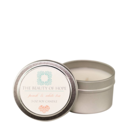Beauty Of Hope Peach & White Tea Soy Candle, 237ml/3 fl oz