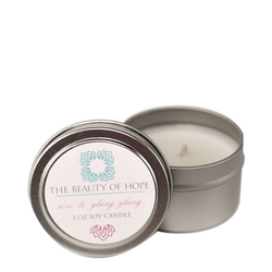 Beauty Of Hope Rose & Ylang Ylang Soy Candle, 237ml/3 fl oz