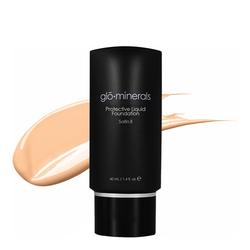gloMinerals Protective Liquid Foundation Satin II - Golden-Fair, 40ml/1.4 fl oz