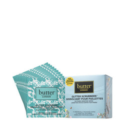 butter LONDON Glitter Scrubber Textured Remover Wipes 1 box, 10 sheets