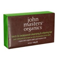 John Masters Organics Birch & Cedarwood Cleansing & Shaving Bar, 128g/4.5 oz